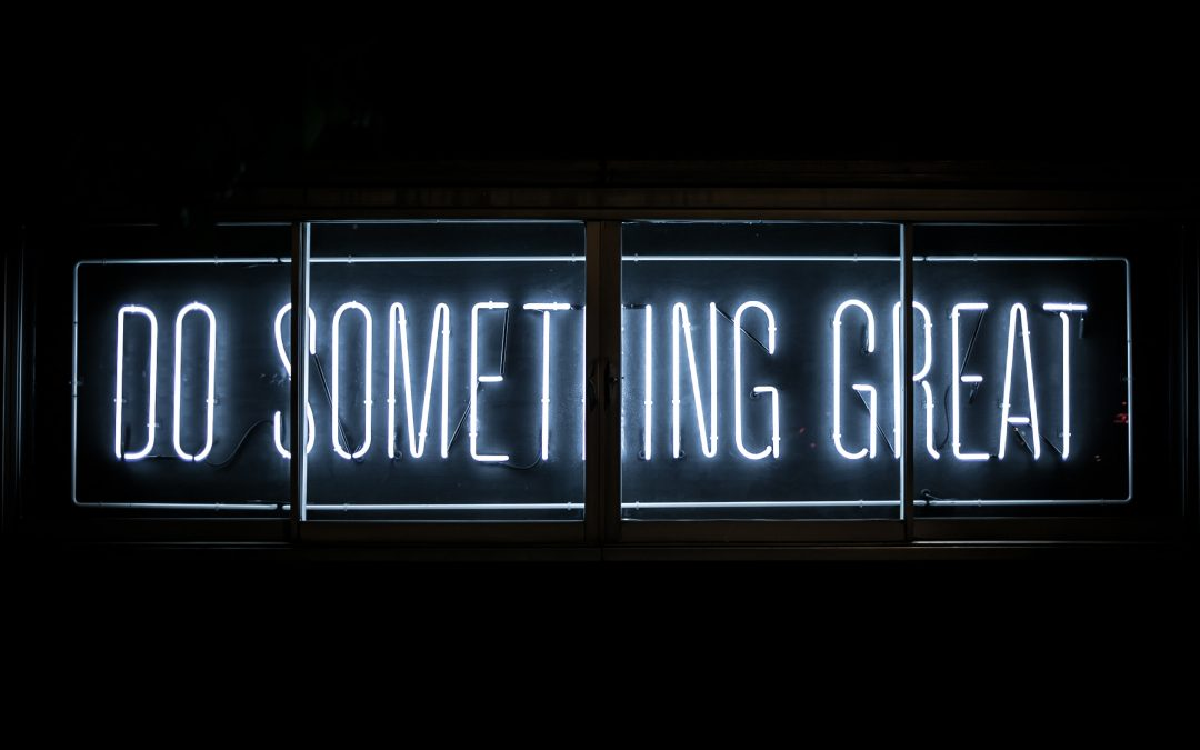 Do Something Great in neon lights